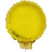 Balão Redondo com Vareta Nº11 Ouro 1 UN Funny Fashion