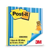 Bloco Adesivo 100 Folhas 76x76mm Amarelo Refil 1 UN Post-it