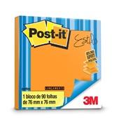 Bloco Adesivo 90 Folhas 76x76mm Laranja Refil 1 UN Post-it