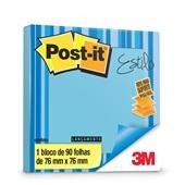 Bloco Adesivo 90 Folhas 76x76mm Azul Céu Refil 1 UN Post-it