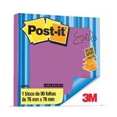 Bloco Adesivo 90 Folhas 76x76mm Roxo Refil 1 UN Post-it