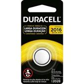 Bateria de Lítio 3V CR2016 1 UN Duracell