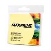 Bloco Adesivo 100 Folhas 76x76mm Amarelo 1 UN Maxprint