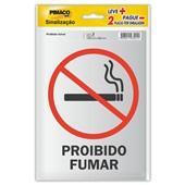 Placa de Sinalização Proibido Fumar Pimaco