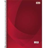 Caderno Universitário Capa Dura 10 Matérias 200 FL Zip Vermelho 1 UN Tilibra