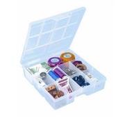 Caixa Organizadora 9 Divisórias Cristal 19,5x16,7x4,5cm 1 UN São Bernardo