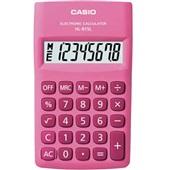 Calculadora de Bolso 8 Dígitos Rosa HK-815L 1 UN Casio