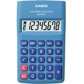 Calculadora de Bolso 8 Dígitos Azul HK-815L 1 UN Casio