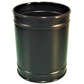 Cesto de Lixo sem Tampa 11L Aço Carbono Pintado Preto 1 UN JSN