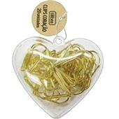 Clips Coração Dourado 28mm CX 20 UN Tilibra