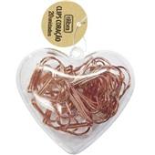 Clips Coração Ouro Rose 28mm CX 20 UN Tilibra