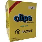 Clips Nº8/0 Galvanizado Linha Leve CX 170 UN Bacchi