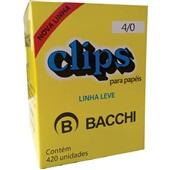 Clips Nº4/0 Galvanizado Linha Leve CX 420 UN Bacchi