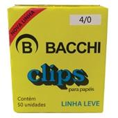 Clips Nº4/0 Galvanizado Linha Leve CX 50 UN Bacchi