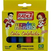 Cola Colorida 6 Cores 25g Cada 6 UN Radex