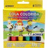 Cola Colorida 6 Cores 23g Cada 6 UN Acrilex