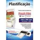 Plástico para Plastificação 0,05 Ofício 226x340mm PT 20 UN Mares