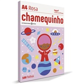 Papel Sulfite Chamequinho Rosa 75gr A4 21x29,7cm 100 FL Chamex