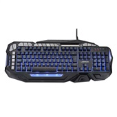 Teclado Warrior Gamer LED Multifunção Macro e Anti-Ghosting Preto TC226 1 UN Multilaser