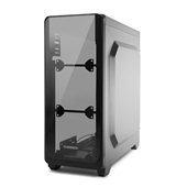 Gabinete Gamer Warrior Modoc com Painel Lateral Temperado Preto GA178 1 UN Multilaser