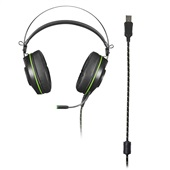 Headset Gamer Warrior Raiko LED Verde PH259 1 UN Multilaser