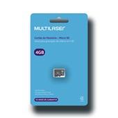Cartão de Memória Classe 4 4GB MC144 1 UN Multilaser