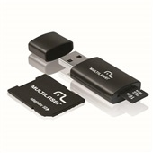 Cartão de Memória Classe 10 16GB com Kit Adaptador MC112 1 UN Multilaser