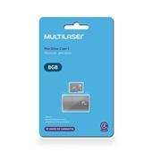 Leitor USB + Cartão de Memória Classe 4 8GB MC161 1 UN Multilaser