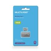 Leitor USB + Cartão de Memória Classe 10 16GB MC162 1 UN Multilaser