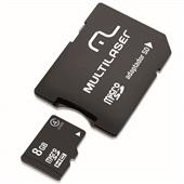 Adaptador 2 em 1 com Cartão de Memória 8GB Classe 4 MC004 1 UN Multilaser
