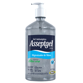 Álcool Gel para Mãos Antisséptico Aloe Vera 420g 1 UN Asseptgel