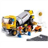 Blocos Construção Caminhão Betoneira 296 Peças BR829 1 UN Multikids
