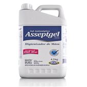 Álcool Gel Antisséptico com Aloe Vera 4,3Kg 1 UN Asseptgel