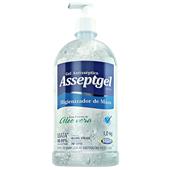 Álcool Gel para Mãos Antisséptico Aloe Vera 1kg 1 UN Asseptgel