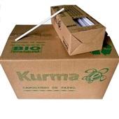 Canudo de Papel Biodegradável para Água e Suco 19,5cm Branco CX 1000 UN Kurma