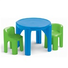 Conjunto Mesa e Cadeiras Azul e Verde 1 UN Little Tikes