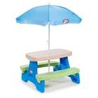 Mesa de Picnic Infantil com Guarda Sol 4 Lugares 1 UN Little Tikes