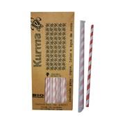 Canudo de Papel Biodegradável para Água e Suco 19,5cm Colorido CX 100 UN Kurma
