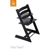 Cadeira de Crescimento Tripp Trapp Tamanho Ajustável Preto 1 UN Stokke