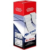 Refil Etiquetadora Térmica para Balança 60x30mm Branco CX 4 UN Metiq