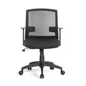 Cadeira Office Entrada com Braços Fixos Preto GA180 1 UN Multilaser