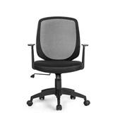 Cadeira Office Mid com Braços Fixos Preto GA181 1 UN Multilaser