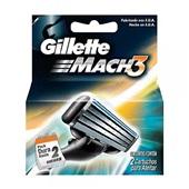 Lâminas de Barbear Mach3 2 UN Gillette