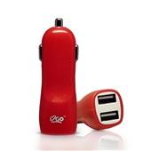 Carregador Automotivo 2 Saídas USB Vermelho 1 UN i2GO