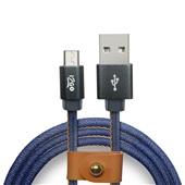 Cabo Micro USB 1,5m Jeans 1 UN i2GO