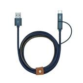 Cabo Micro USB e USB Tipo C 1,5m Jeans 1 UN i2GO