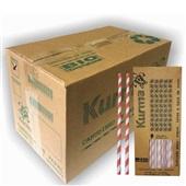 Canudo de Papel Biodegradável para Milk Shake 21cm Colorido CX 1000 UN Kurma