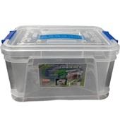 Caixa Organizadora Container 7L Cristal 31,5x20,5x18cm 1 UN São Bernardo