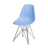Cadeira Eames com Base Cromada Azul 1 UN OR Design