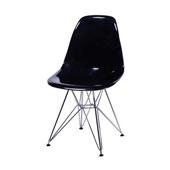 Cadeira Eames Alta com Base Cromada Preto 1 UN OR Design
